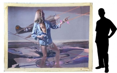 LIFE SIZE MARTIN HOFFMAN SURREAL PORTRAIT PAINTING