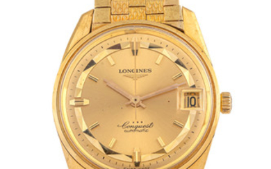 LONGINES, CONQUEST, WATERPROOF, YELLOW GOLD