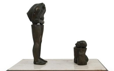"Leo Vinci ""Looking At Myself"" Bronze Sculpture"