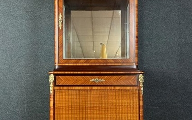 Louis XV ceremonial showcase bookcase in noble wood marquetry - Wood - Late 19th century