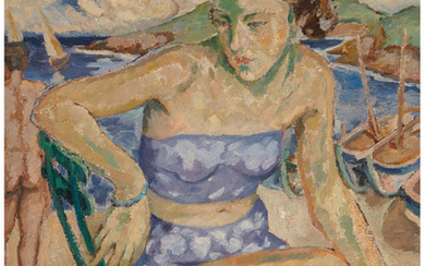 Marie-Mela Muter (1886-1967), Untitled (Woman in Brittany)