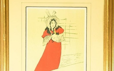 """""""Mary Belfort"""" Color Lithograph After Lautrec"""
