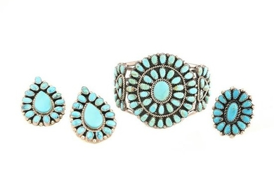 Native American Turquoise, Sterling Silver Jewelry
