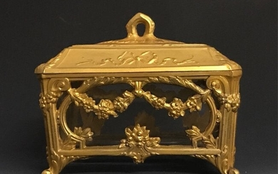 ORMOLU MOUNTED GLASS BOX