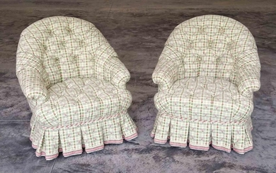 Pair Decorative Upholstered Chairs
