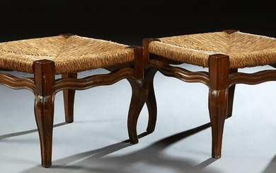 Pair of French Provincial Louis XV Style Carved Beech