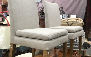 Pair of Upholstered Conrod Flaxen Chairs
