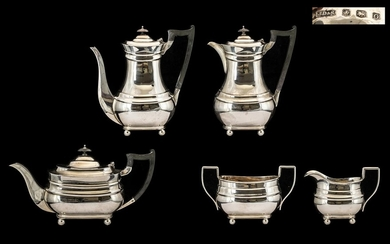 Queen Anne Style 1930s Period Good Quality 5 Piece Sterling ...