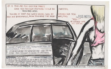 RAYMOND PETTIBON (B. 1957), No Title (At 15 you...)