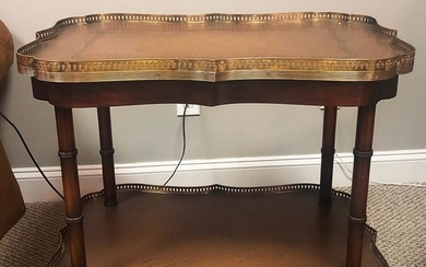 Rectangular Leather Top Table, RA8A