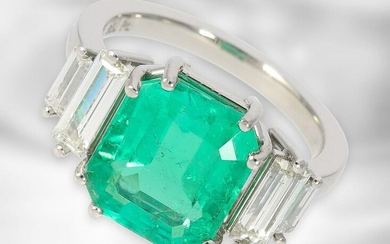 Ring: exclusive, formerly very expensive emerald/diamond goldsmith's ring,...
