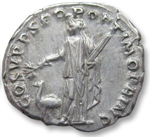 Roman Empire - AR Denarius, Trajan / Trajanus - Struck to commemorate the annexation of Arabia Petrea - Rome mint 110 A.D. - Arabia with camel standing left - Silver