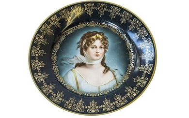 Royal Vienna Queen Louise Portrait Plate
