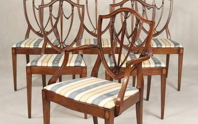 Six Federal Style Mahogany Shield Back Chairs