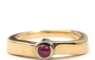 SOLD. Toftegaard: Ruby ring set with cabochon-cut ruby, mounted in 14k gold. Size 54.5. –...