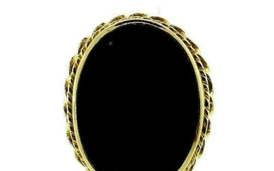VICTORIAN 14k Yellow Gold & Onyx Ring Circa 1900s