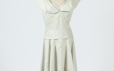 VINTAGE PALE GREEN AND WHITE DRESS, PALE GRE SLEEVELESS DRESS,...