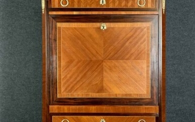 secretary era transition in precious wood marquetry - Wood - 1800