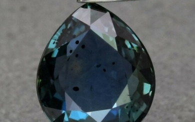 1.04 ct. Natural Unheated Blue Green Sapphire TANZANIA
