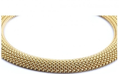 14k Yellow Gold Weave Style Collar Necklace