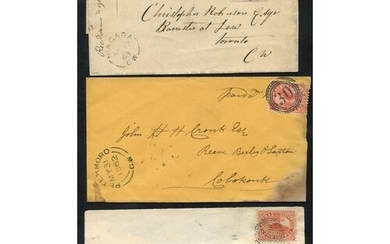 1862-63 covers (2) and an outer wrapper with three distinct ...