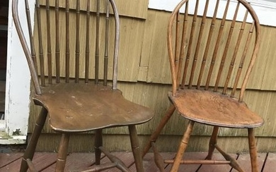 2 Antique American Late 18th / Early 19th C Chairs