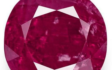 5.75-Carat GRS-Certified Unheated Rich Pinkish Red Ruby
