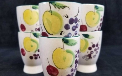 6 Del Coronado Nasco Japan Hand Painted Fruit Porcelain