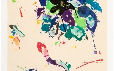 65022: Sam Francis (1923-1994) Untitled, 1990 Aquatint