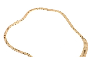 A 14k gold necklace. L. 49 cm. Weight app. 34 g.