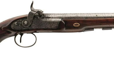 A 28-BORE PERCUSSION OFFICER'S PISTOL BY MACLAUCHLAN OF