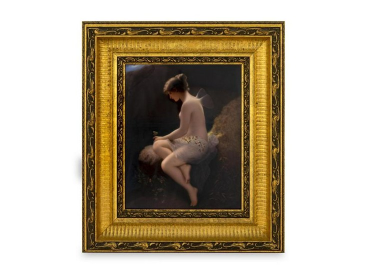 A Berlin Porcelain Plaque: Psyche 12 3/4 x 10 1/8