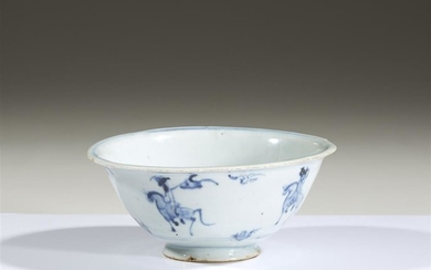 A Chinese blue and white porcelain bowl Ming dynasty...