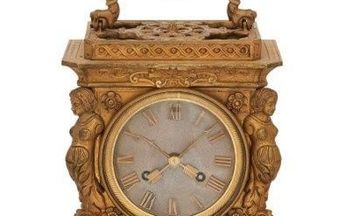 A French ormolu mantel clock, in the...