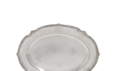 A GEORGE IV SILVER MEAT-DISH, MARK OF BARAK MEWBURN, LONDON, 1830