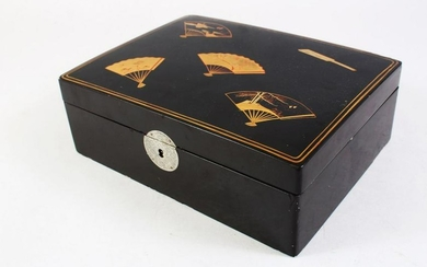 A GOOD JAPANESE MEIJI PERIOD LACQUER GAMES BOX, the