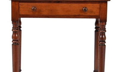 A George IV mahogany side table