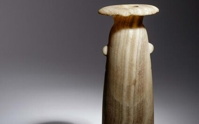 A Large Egyptian Alabaster Alabastron Height 9 3/4
