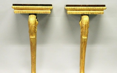A PAIR OF 19TH CENTURY ROSEWOOD AD GILTWOOD SMALL