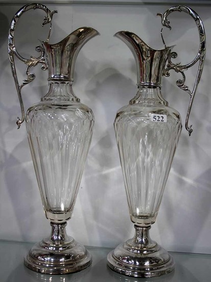 A PAIR OF LATE VICTORIAN EWERS