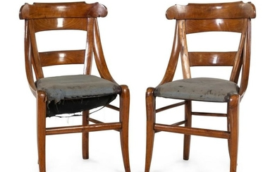 A Pair of Continental Fruitwood Side Chairs