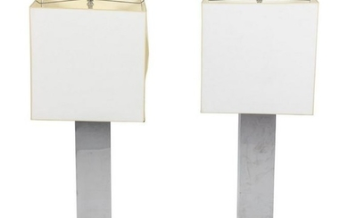 A Pair of Monumental Modernist Table Lamps Height