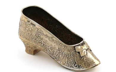 A continental silver model of a shoe, with...