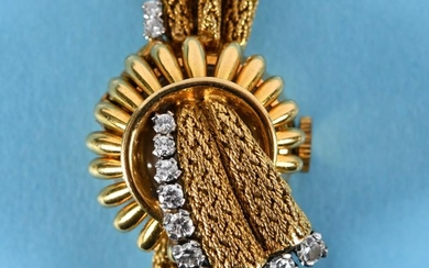 A lady's 18ct gold Aster bracelet wristwatch, of textured fo...