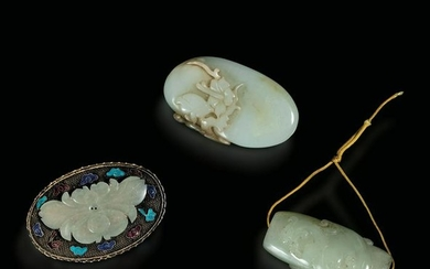 A lot of jade and silver items, China, Qing Dynasty