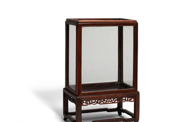 A miniature upright display case