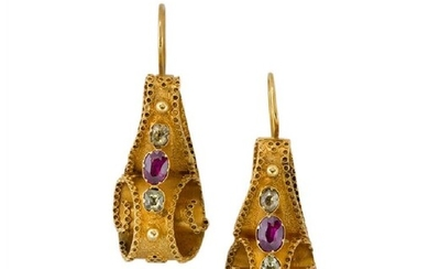 A pair of early Victorian gold and...