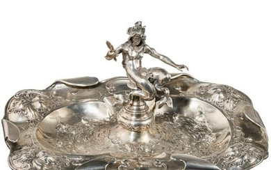 A silver Viennese arts and crafts centerpiece, circa