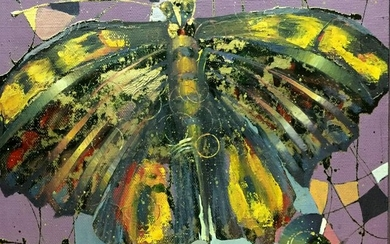 Abstract oil painting Butterfly Klementyev Yuri