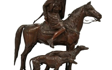 Alfred Dubucand (French, 1828-1894) Bronze Sculptural